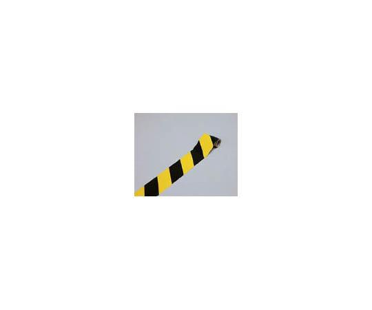 ラインテープ(トラテープ・反射) 黄/黒 75mm幅×1m 屋内用