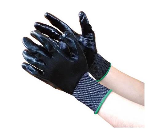 黒フィット ニトリルコーティング手袋 3双組 7753