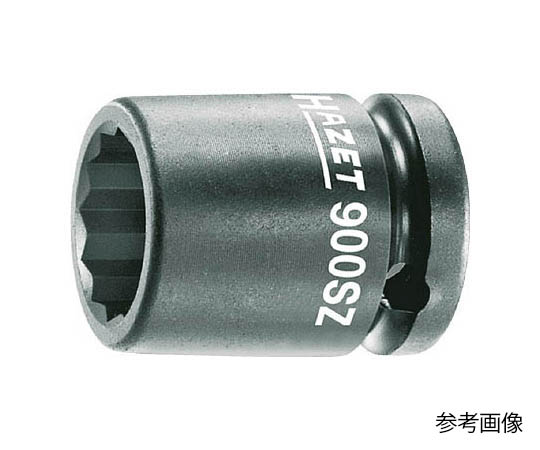 インパクト用12ポイントソケットレンチ(12角タイプ・差込角12.7mm) 対辺19mm 900SZ19
