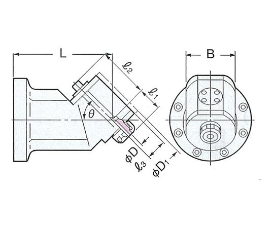 モジュラーアンギュラヘッド(傾斜タイプ) AHM45-SK16-150