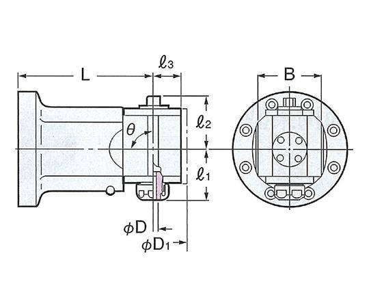 モジュラーアンギュラヘッド(90°タイプ) AHM90-SK6-150