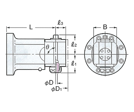 モジュラーアンギュラヘッド(90°タイプ) AHM90-SK6-120