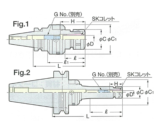 ゼロフィット型スリムチャック BT30-SZF16-105