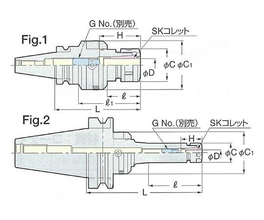 ゼロフィット型スリムチャック BT30-SZF10-90