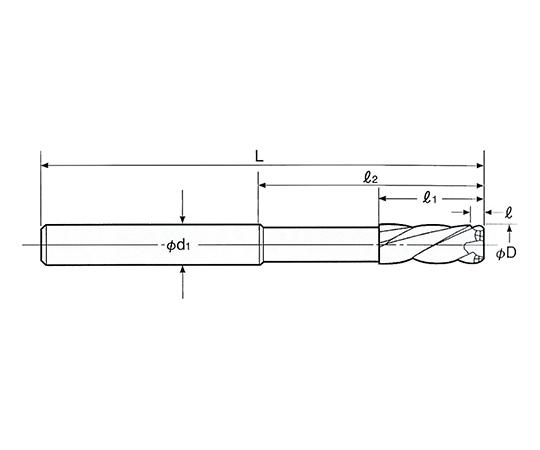 超硬ラジカルミルリーマ ストレートシャンク RMSS-4.5