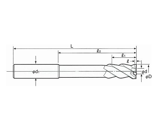 止り穴用右リード NCセンサリーマ ストレート RNS-8.0F
