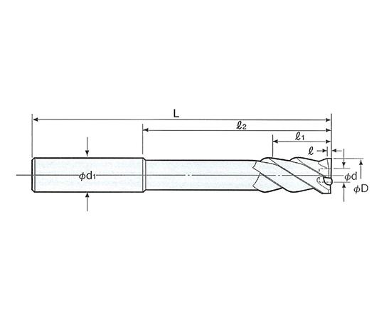 止り穴用右リード タフカットスキルリーマ ストレート RSS-13.0F