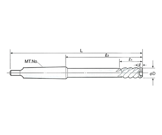 タフカットスキルリーマ モールステーパシャンク SRM-19.5
