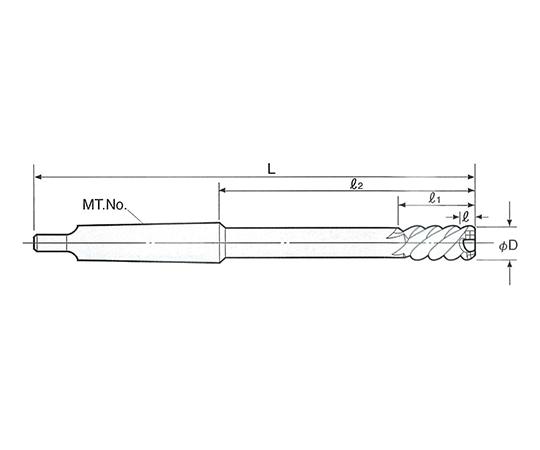 タフカットスキルリーマ モールステーパシャンク SRM-25.0
