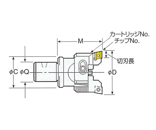 バランスカットボーリングヘッド(アルミ・非鉄用) 26-RAC53-70A