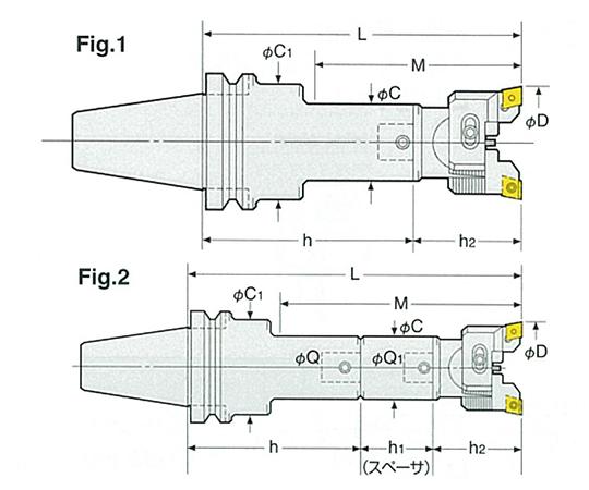 バランスカットボーリングバー(鉄・鋳物用) BT40-RAC100-195
