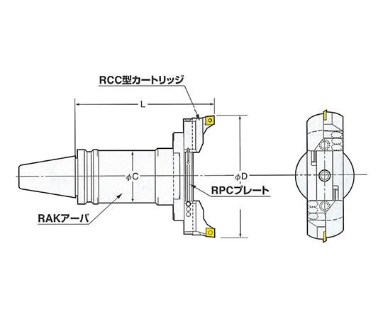 バランスカット大径用ボーリングバー(鉄・鋳物重切削用 BT40-RAC130-205