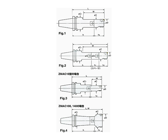 ZMACボーリングバー(仕上ボーリング) BT40-ZMAC20-135