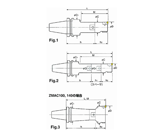 ZMACボーリングバー(中仕上ボーリング) BT40-ZMAC42R-210
