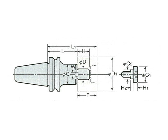2LOCKシェルエンドミルアーバ(ミリシリーズ) NBT40-SMA16-60