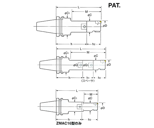 ZMACボーリングバー NBT40-ZMAC25-165
