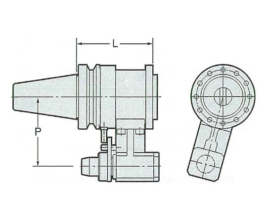 モジュラー型アンギュラヘッド本体 NBT50-AHM-120