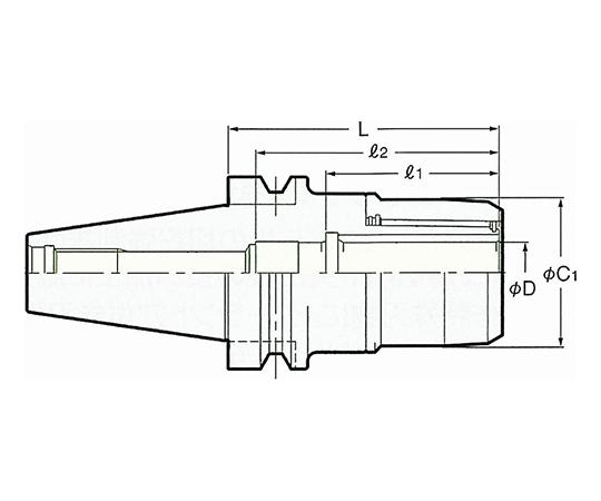 高速回転用ミーリングチャック NBT50-C20-135G