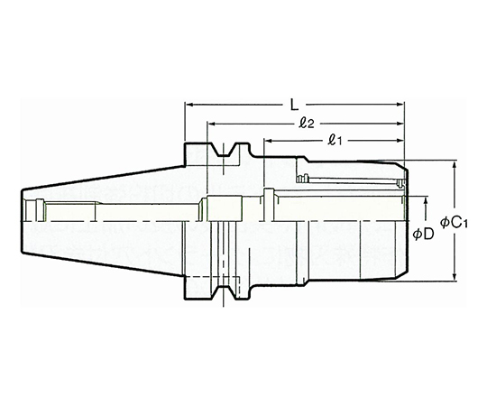 高速回転用ミーリングチャック NBT50-C32-135G