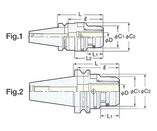 ゼロフィット型ミーリングチャック NBT50-CZF25-105