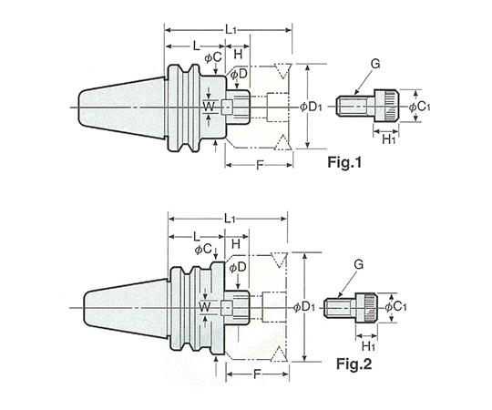 2LOCKショルダーカッタアーバ(インチシリーズ) NBT50-FMC25.4-90