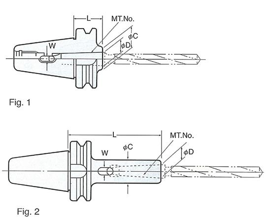 モールステーパスリーブA型(タング式) NBT50-MTA2-45