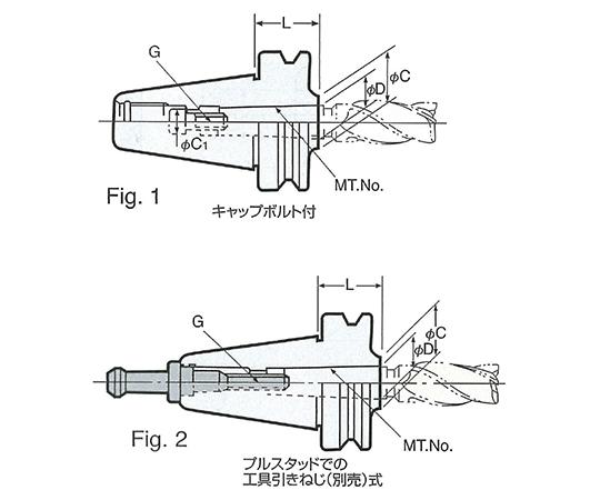 モールステーパスリーブB型(引きねじ式) NBT50-MTB1-45
