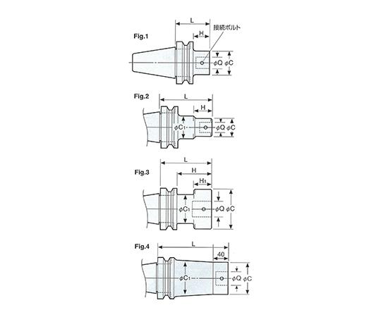 ボーリング用ベースホルダ NBT50-Q42-275A