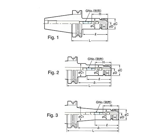 2LOCK スリムチャック NBT50-SK20C-250