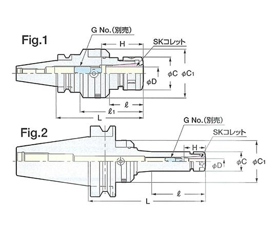 ゼロフィット型スリムチャック NBT50-SZF10C-165