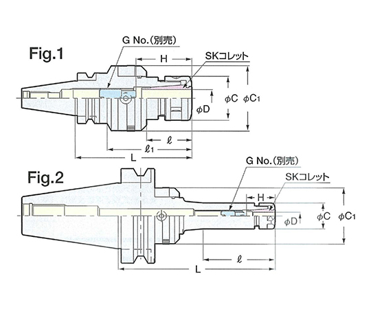 ゼロフィット型スリムチャック NBT50-SZF6C-165