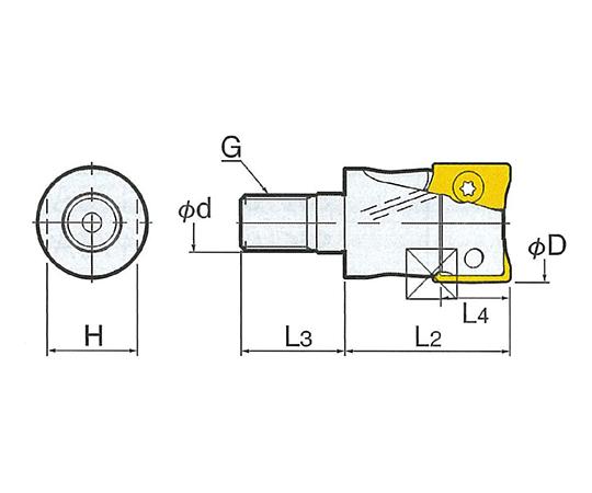 メジャードリームプロエンドミル NBT50-MDPE-M10-75