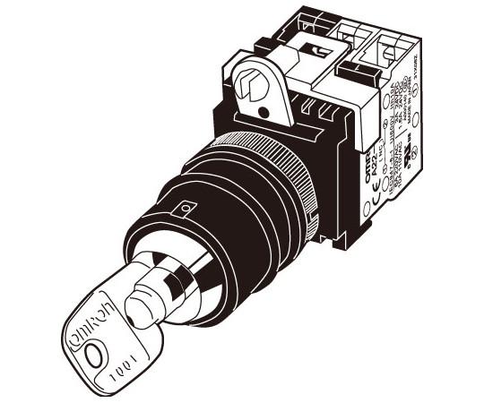 セーフティ・キーセレクタスイッチ A22TK-2LR A22TK-2LR-11-K07