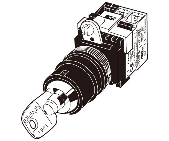セーフティ・キーセレクタスイッチ A22TK-2RL A22TK-2RL-11-K05