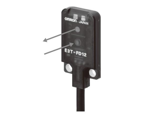 アンプ内蔵光電センサ(超小型・薄型) E3T E3T-FD11MR 2M