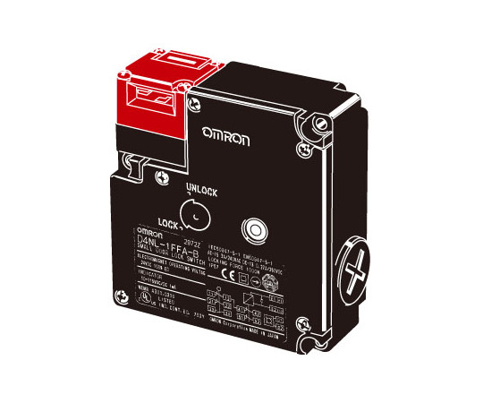 小形電磁ロック・セーフティドアスイッチ D4NL D4NL-4FDG-B4