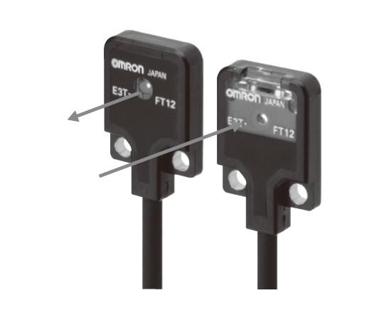アンプ内蔵光電センサ(超小型・薄型) E3T E3T-FT23 2M
