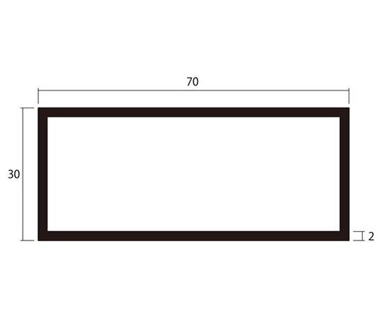 アルミ角パイプ 1m 2.0×30×70mm シルバー 4本組