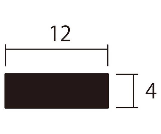 アルミ平棒 1m 4.0×12mm シルバー 4本組
