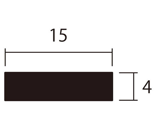アルミ平棒 1m 4.0×15mm シルバー 4本組