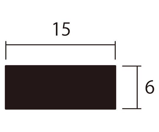 アルミ平棒 1m 6.0×15mm シルバー 4本組