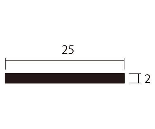 アルミ平棒 1m 2.0×25mm シルバー 4本組