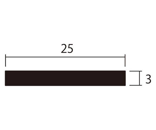 アルミ平棒 1m 3.0×25mm シルバー 4本組