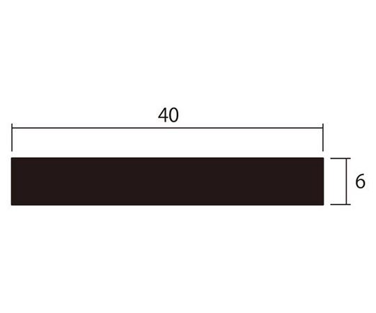 アルミ平棒 1m 6.0×40mm シルバー 4本組