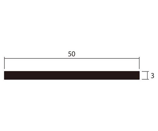 アルミ平棒 1m 3.0×50mm シルバー 4本組