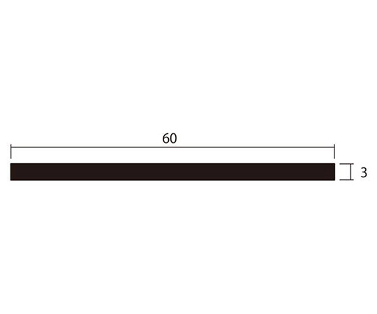 アルミ平棒 1m 3.0×60mm シルバー 4本組