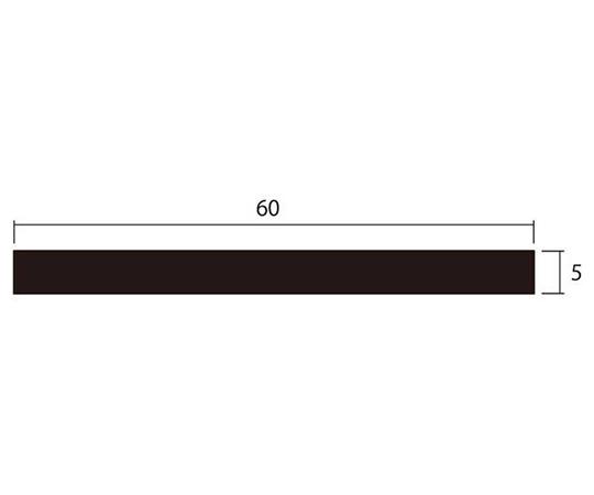アルミ平棒 1m 5.0×60mm シルバー 4本組
