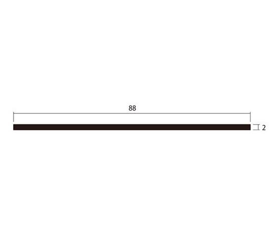 アルミ平棒 1m 2.0×88mm シルバー 4本組
