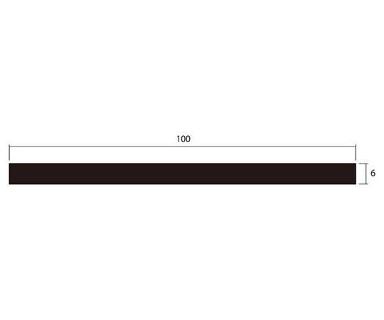 アルミ平棒 1m 6.0×100mm シルバー 4本組