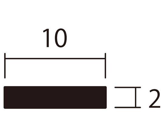 アルミ平棒 1m 2.0×10mm ブロンズ 4本組